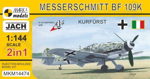 Mark I Models 1//144 Model Kit 14474 Messerschmitt Bf-109K-4 'Kurfürst' 2in1