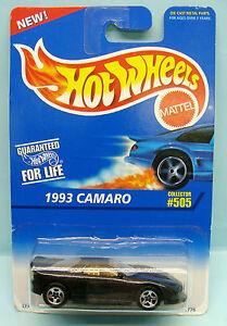 1969-HOT-WHEELS-CARTE-US-COLLECTOR-50-1995-CAMARO-1993-1-64