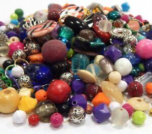 Perlen-Glas-DIY-METALL-Holz-250g-Bastlerbedarf-MIX-Uberaschungspaket-RESTPOSTEN