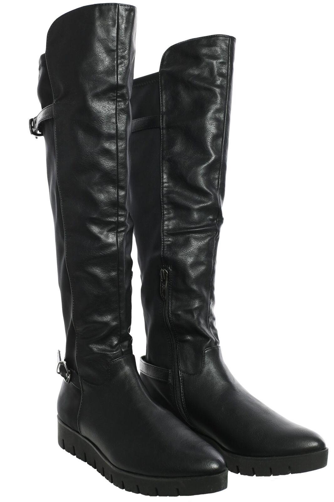 Casual salvaje Tamaris botas altas señora zapatos botas botines tacón de cuña símil cuero