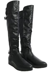 online retailer 9bb89 fce56 Details zu Tamaris Overknee Stiefel Damen Schuhe Boots Stiefeletten  Lederoptik Keilabsatz