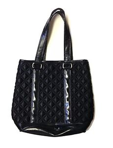 af84a3f95765 Marc Jacobs Quilted Nylon Leather Black Medium Size Tote Bag Purse R ...