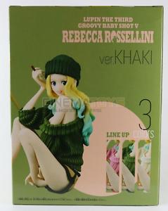 LUPIN-III-Groovy-Baby-Shot-5-Rebecca-Rossellini-Green-KHAKI-Figure-Banpresto