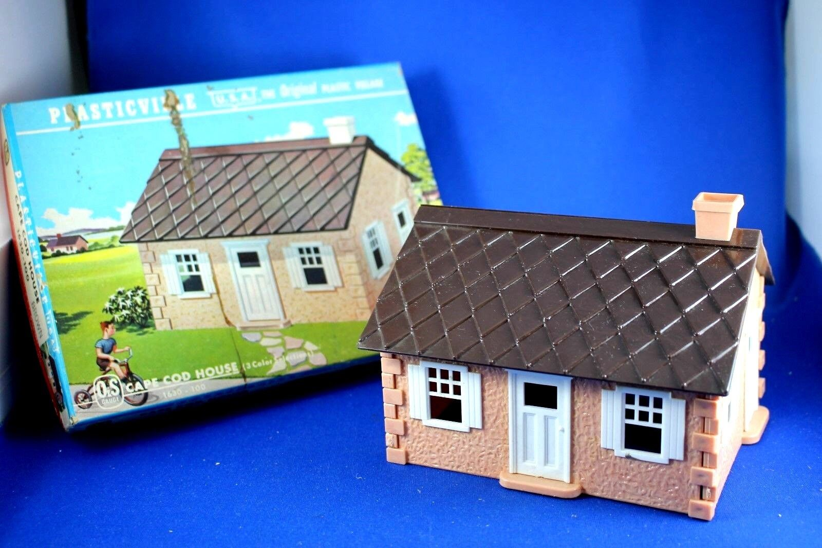 Plasticville - O-O27 -  1630 Original Cape Cod - Peach & marrone Roof bianca Trim
