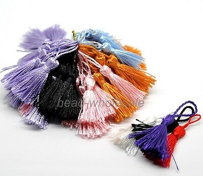 Colorful 20 Pcs Silk Drapery Decoration Fringe Trimmings Tassels 13cm