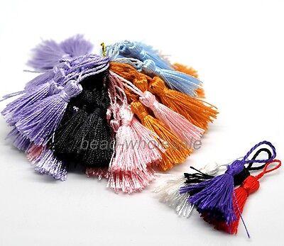 Colorful 20 Pcs Silk Drapery Decoration Fringe Trimmings Tassels 13cm