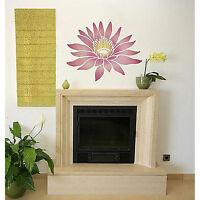 Lotus Grande Floral Wall Stencil - Easy To Use Stencils For Diy Home Decor