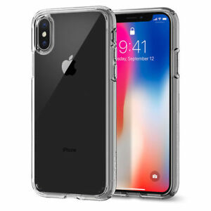 Apple-iPhone-X-Ultra-Thin-Clear-Hybrid-Full-Cover-Shockproof-Soft-Case