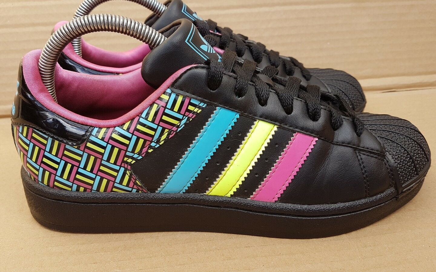 ADIDAS SUPERSTAR TRAINERS Taille RARE 5noir S STAR EXCELLENT RARE Taille SOLD OUT fb2bb0