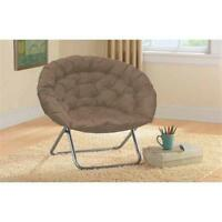 Oversized Large Saucer Moon Chair Dorm Den Tv Living Room Folding Seat Round