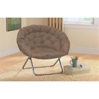 Oversized Large Saucer Moon Chair Dorm Den Tv Living Room Folding Seat Round