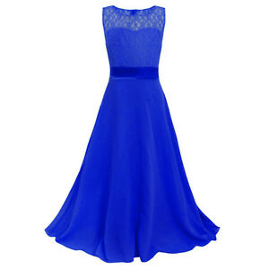 Details About Teenage Girls Princess Dresses Prom Lace Formal Dress Kids Wedding Party Easter