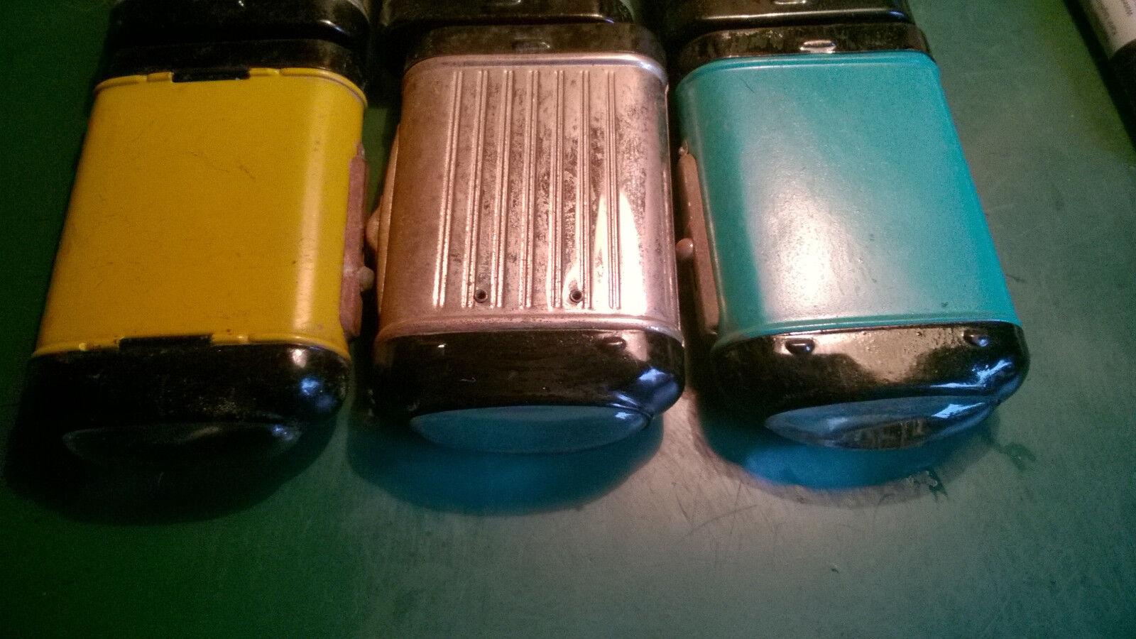 6 x  Taschenlampen ohne Hersteller Bezeichnung Bezeichnung Bezeichnung  , 60er Jahre 3bb911