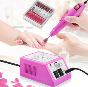 Electric-Nail-File-Drill-Manicure-Machine-Art-Acrylic-Pedicure-Tool-Set-Kit-Bits