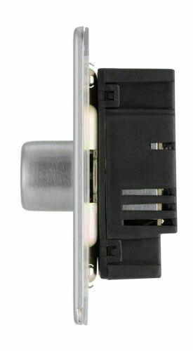BG Nexus en acier brossé Screwless plaque plane Commutateurs et douilles chrome satiné gris