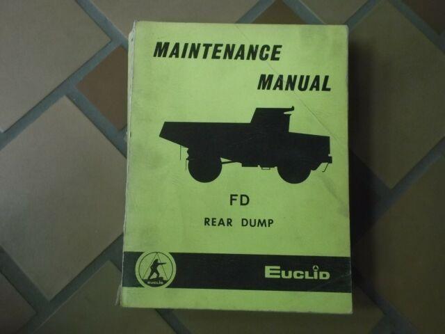 Euclid 202fd 204fd 205fd Dump Quarry Truck Hauler Shop