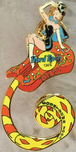 Hard-Rock-Cafe-TOKYO-2003-New-Year-PIN-Party-Girl-on-Coiled-Guitar-HRC-16000