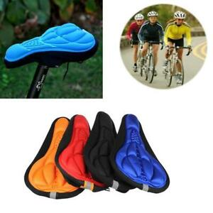 Bike Bicycle 3D Gel Silicone Saddle Seat Cover Pad Padded Soft Cushion Comfort