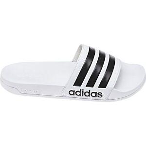 Details zu adidas CF adilette Badesandalen weiß Schlappen Saunalatschen Badelatschen