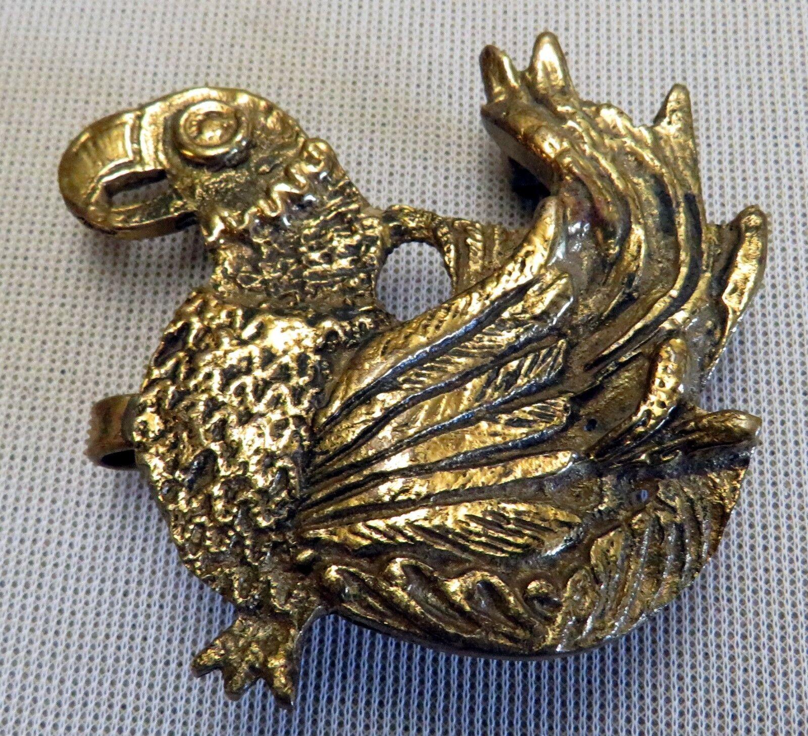 DRACHEN Gürtelschnalle NEU für 3,5cm breite GÜRTEL Furchur METALL Farbe: GOLD #