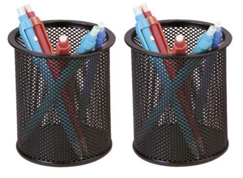 2x Stifteköcher Köcher Stiftebox Draht schwarz 8,6 cm