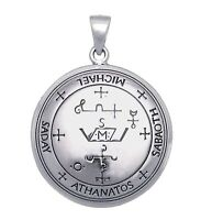 Archangel Michael Talisman 925 Sterling Silver Sigil Of Michael Angelic Pendant