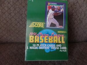 Details About 1991 Score Series 1 Major League Baseball Cards Box Of Wax Packs