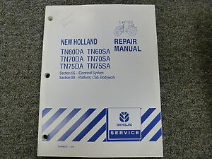 New Holland TN60 TN70 TN75 DA SA Tractor Shop Service Repair Manual on