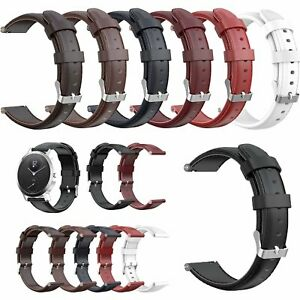 18-20MM-Genuine-Leder-Uhrenarmband-Armband-Ersatz-Strap-fuer-Nokia-STEEL-HR-Uhr