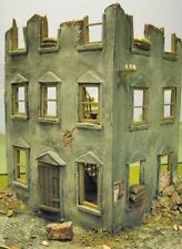 1/35 Scale ~ Ruined Corner House Model - Military model kit diorama