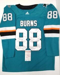aa8d6f563 BRENT BURNS Signed autographed San Jose Sharks Jersey SZ 54. WITNESS ...