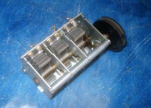 3-fach-Drehkondensator-Kompakt-mit-Getriebe-und-Abschirmung-Loewe-Roehrenradio