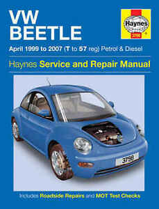 volkswagen beetle repair manual haynes workshop service manual 1999 rh ebay co uk vw bug service manual volkswagen official service manual beetle pdf