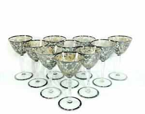 Sterling-Silver-Overlay-Crystal-Antique-2oz-Cordial-Liquor-Glass-Set-10-Sherry