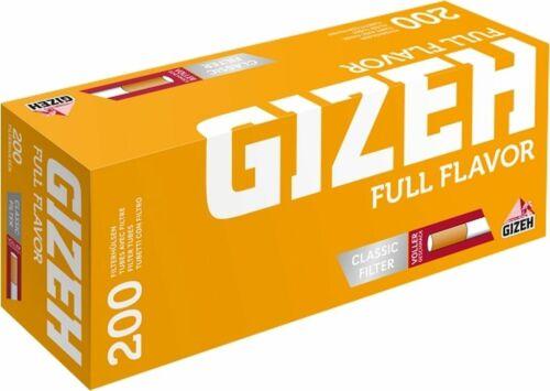 Gizeh Full Flavor Hülsen Filterhülsen Zigarettenhülsen 5 x 200er Packung