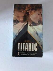 Titanic-VHS-1998-2-Tape-Set-Pan-and-Scan