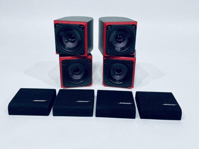 (4) Bose Redline Single Cube Home Satellite Speakers Lifestyle