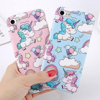 UltraThin Slim Unicorn Pattern Rubber Soft TPU Case Cover For iPhone 6 6s 7 Plus