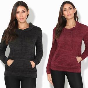 Womens-Soft-Marl-Knit-Hoodie-Hooded-Loose-Baggy-Jumper-Sweater-Top-Sweatshirt