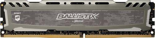 Crucial Ballistix Sport 8GB DDR4 PC4-19200 2400 MHz 288-Pin Desktop Memory Gray