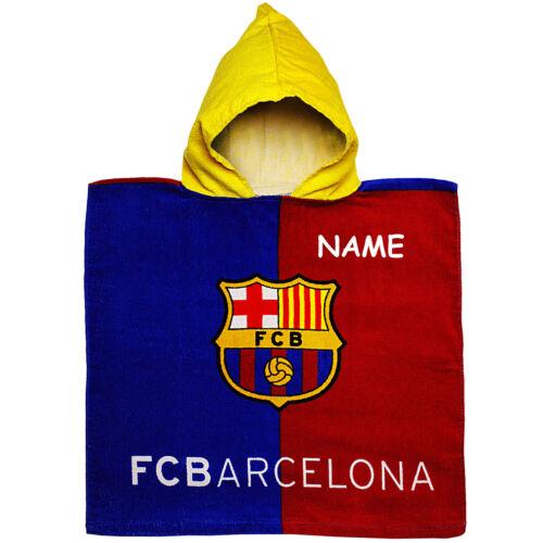 FC Barcelona Fußball FCB Badeponcho // Kapuzenhandtuch 100 /% Baumwolle
