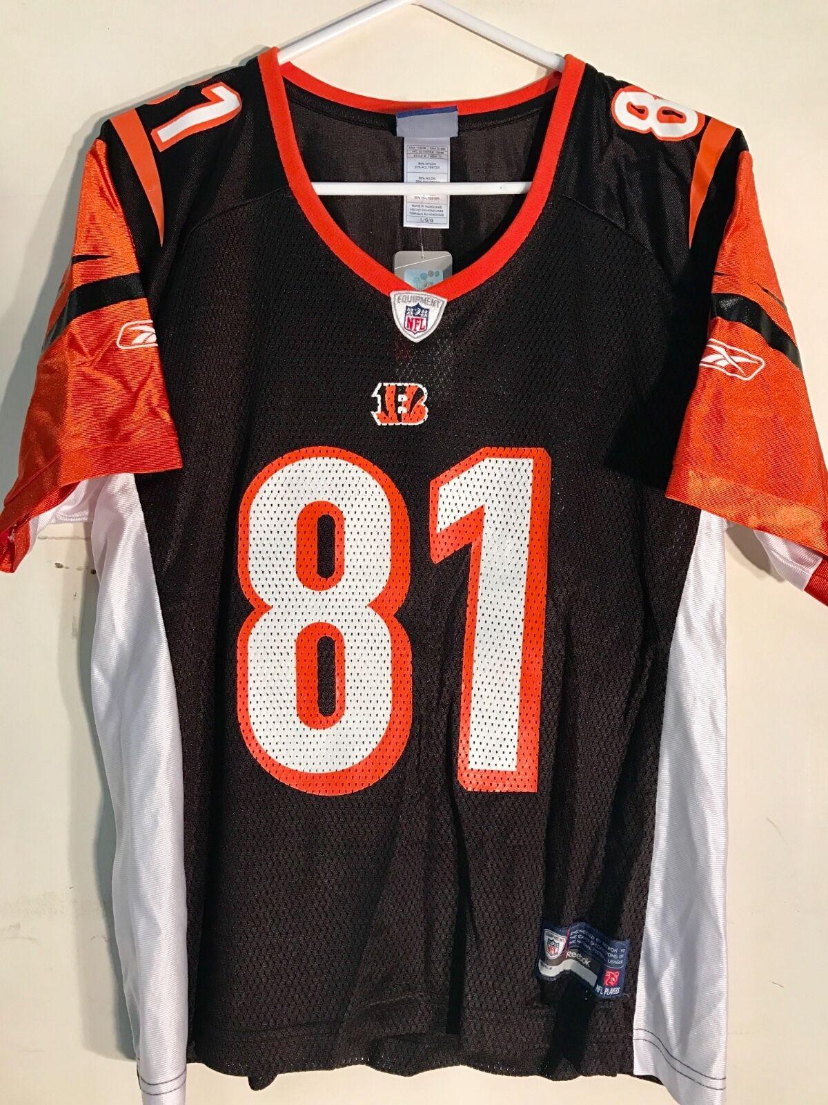 fe990b9e4b7 Reebok Women s NFL Jersey Bengals Terrell Owens Black Sz L