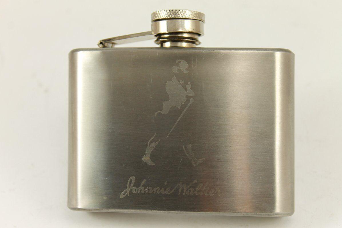 Vintage JOHNIE WALKER Scotch Whisky Hip Flask 4 Oz