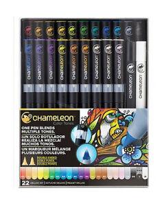 Chameleon Color Tone Markers 22 Deluxe Pen Set Colour Book100 Genuine Stockist