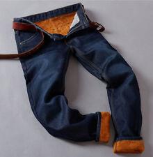 0d0447e61 item 1 Men's Winter Thermal Jeans Fleece Lined Denim Pants Fit Straight  Long Trousers -Men's Winter Thermal Jeans Fleece Lined Denim Pants Fit  Straight Long ...