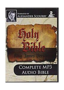 Details about KJV Comp Scourby MP3 2 CDs Alexander Scourby-King james  Version-Complete Audi