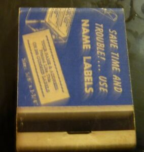 Rare-Vintage-Match-Book-Save-Time-amp-Trouble-Use-Name-Labels