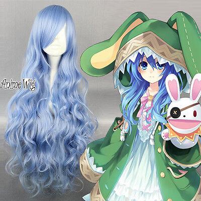 DATE A LIVE Yoshino Cosplay Gelockt gewellt 90cm Anime Party Halloween Show Wig
