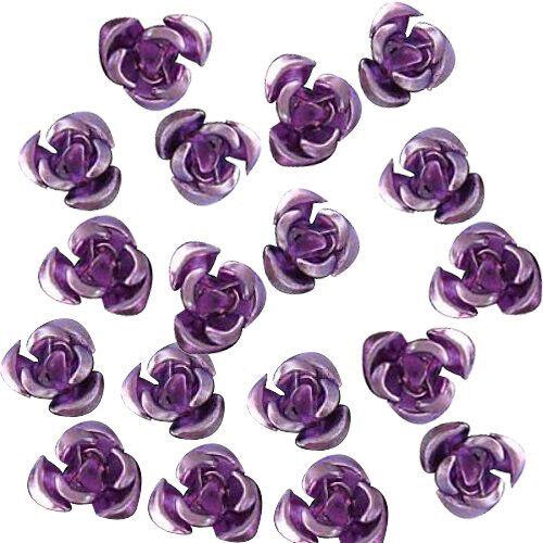 50 St 8mm Lila Aluminiumperlen Aluminum Rose Perlen O2I5 3X