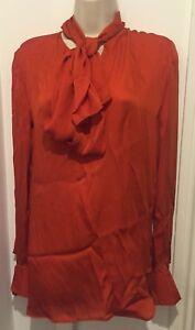 Mccartney in Arancione Fiocco Misura Top 12 Seta 42 Con Stella uk wadngIE6qa